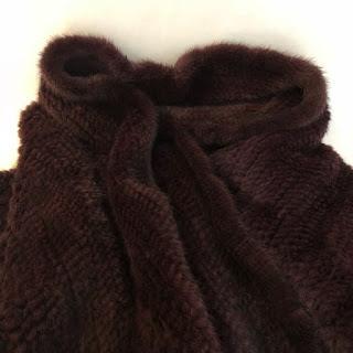 Knit Mink Scarf