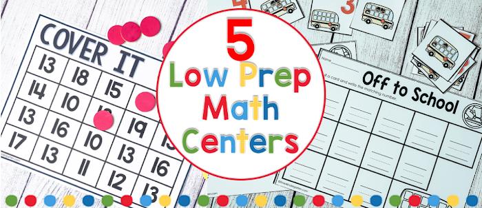 No Prep Math Centers