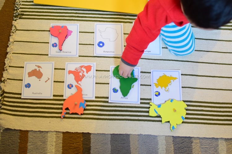 Seven Continents 3 Part Cards