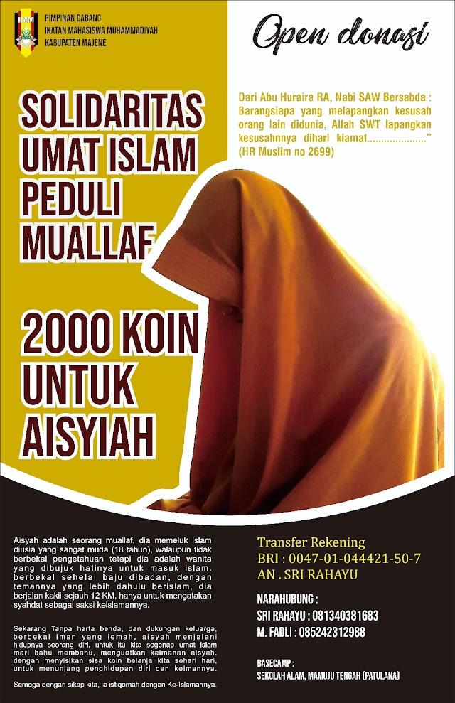 Gelar Karpet 2000 Koin : IMM Majene Berdayakan Muallaf