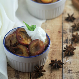 Spiced Roasted Plums Recipe