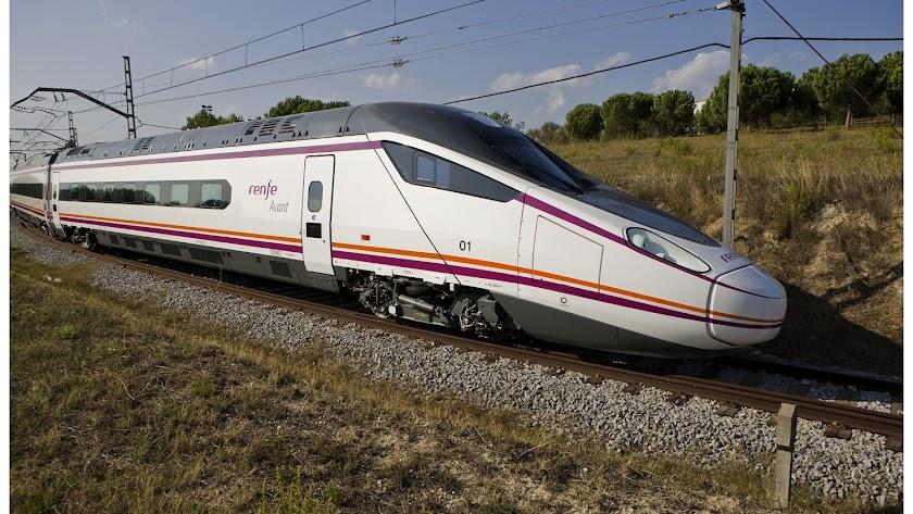 Modelo de tren Avant para los viajes entre Granada y Sevilla.