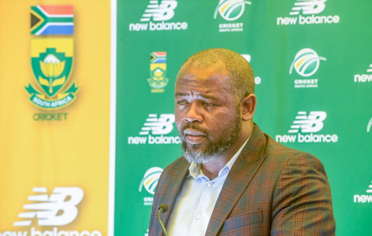 CEO Thabang Moroe of CSA during the Proteas Women's send-off to ICC Women's World T20 at CSA Head Offices on October 23, 2018 in Johannesburg, South Africa.