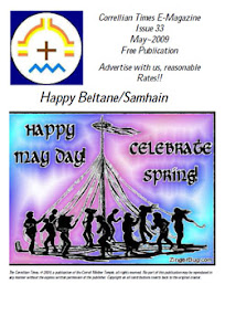 Cover of Correllian Times Emagazine's Book Issue 33 MAY 2009 Happy Beltane Samhain