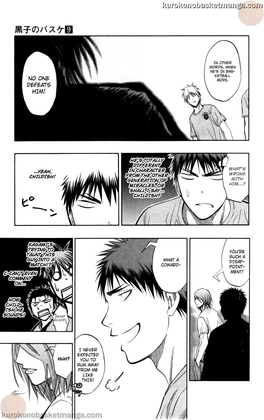 Kuroko no Basket Manga Chapter 78 - Image 09