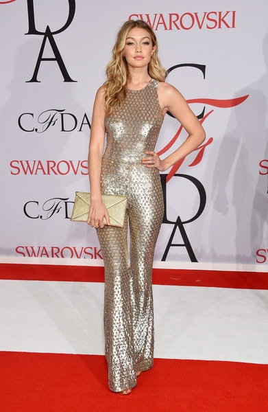 Gigi Hadid attends the 2015 CFDA Fashion Awards