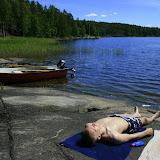 090622-25 - Lata dagar o fiske vid stugan