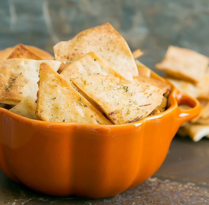 close-up photo of Ranch Flavored Pita Chips