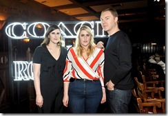 HOLLYWOOD, CA - MARCH 30: (L-R) Rodarte Co-Founders Laura Mulleavy, Kate Mulleavy and Coach Creative Director Stuart Vevers attend the Coach & Rodarte celebration for their Spring 2017 Collaboration at Musso & Frank on March 30, 2017 in Hollywood, California  (Photo by Donato Sardella/Getty Images for Coach)