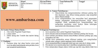 Download Silabus & RPP 1 Lembar Kelas 6 SD Tema 4 Revisi Terbaru Kurikulum 2013
