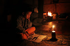 Students previously studied by candlelight which posed fire risks