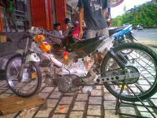 Motor Supra Fit Modifikasi Drag