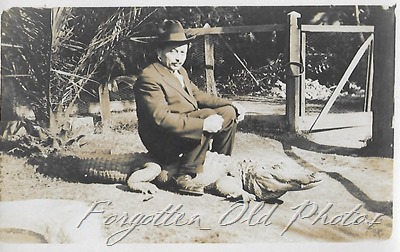 Man on a gator Nevis Log Cabin
