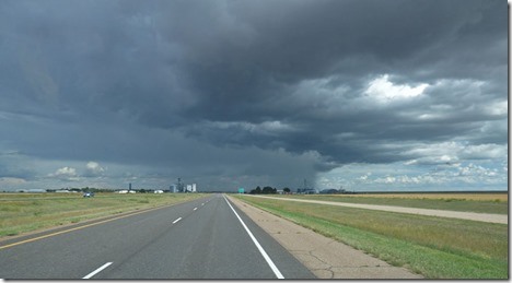 Storm to our east on I-70, Colorado