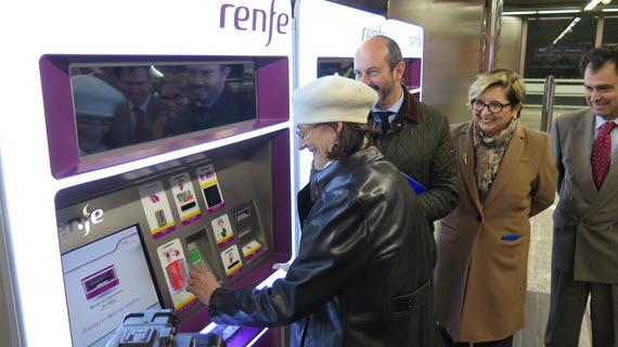 Recarga la Tarjeta Transporte en las máquinas de Cercanías desde el 15 de marzo