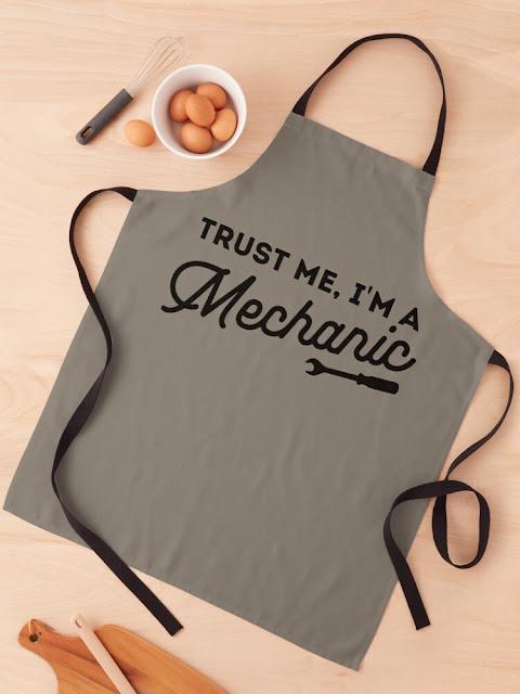 Trust me, I'm a mechanic - funny - apron