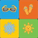 Seasons Memory Game for kids icon