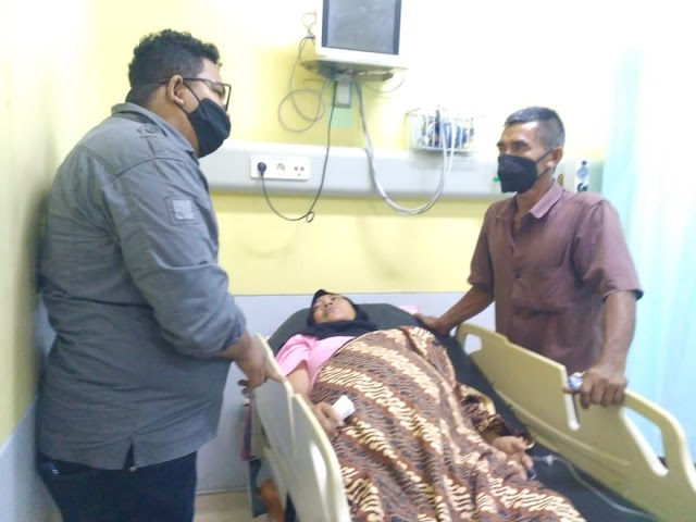 SPMA Jalankan Amanah Senator Fachrul Razi Salurkan Bantuan ke Pasien Tumor