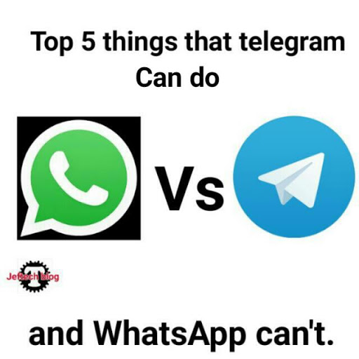 Top 5 Features That Telegram Has And WhatsApp Don't Have.