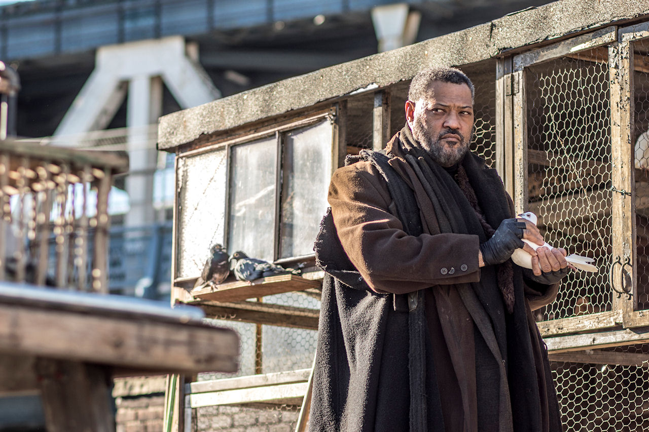 Laurence Fishburn stars as 'The Bowery King'  in JOHN WICK: CHAPTER 2. (Photo by Niko Tavernise / courtesy of Lionsgate).