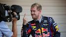 The Finger of Sebastian Vettel (GER/ Red Bull Racing)