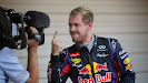The Finger of Sebastian Vettel (GER/ Red Bull Racing)