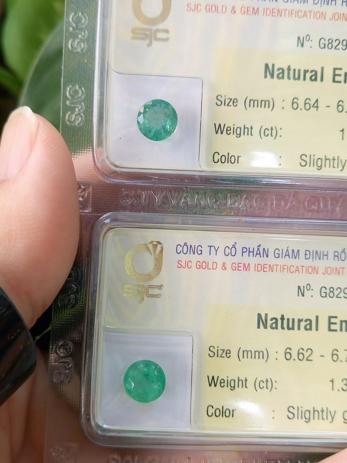 Đá quý Ngọc Lục Bảo thiên nhiên, Natural Emerald đã kiểm định SJC