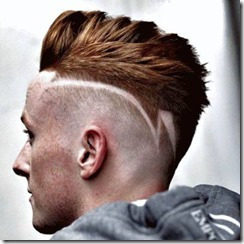 High Taper Fade with Design