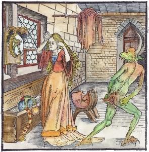 Geoffrey De La Tour Landry Von Der Exempeln Der Gotsfurcht Und Erbechert, Emblems Related To Alchemy