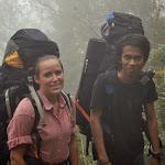 Ada i Celli z plecakami. cała ekipa była ze mnie bardzo dumna ;)