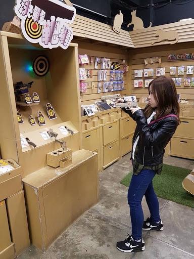 Shooting paper at Carton King Creativity Park, Taichung