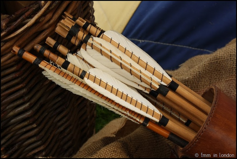 A quiver of arrows at Lullingstone Castle medieval weekend