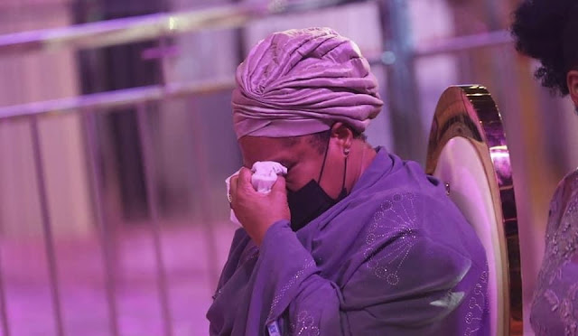 TB Joshua's wife cries at his lying in state service