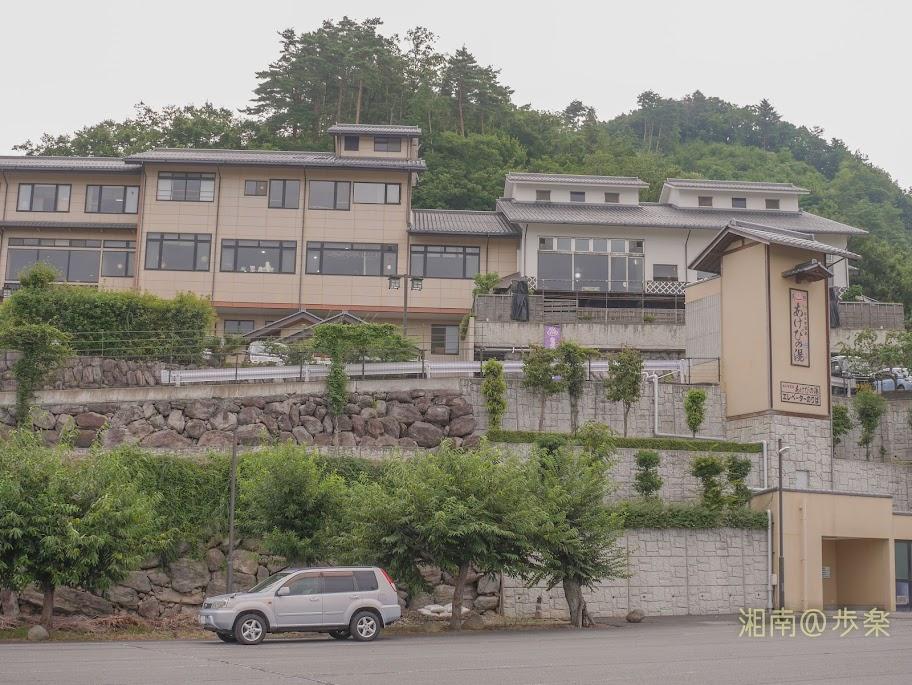 おぶせ温泉は、雁田山の麓にある