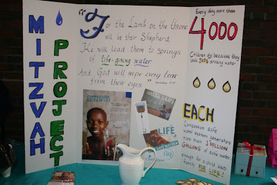 """Here's the display Vivienne made about Compassion's """"Water of Life."""""""