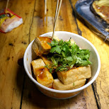 stinky tofu - street food in Shanghai on Sichuan Middle Rd. in Shanghai, Shanghai, China