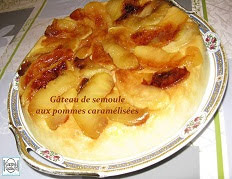 Gâteau de semoule aux pommes caramélisées