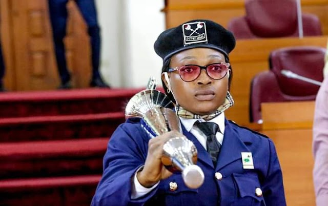 Jinx Broken At Lagos House Of Assembly! As 33 Year-Old Oyindamola Olorogun, Becomes The First Female To Carry The Mace ~Omonaijablog