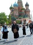 Москва - 2006. Первый визит мастера Кайсена в Россию. Прогулка по Красной площади.