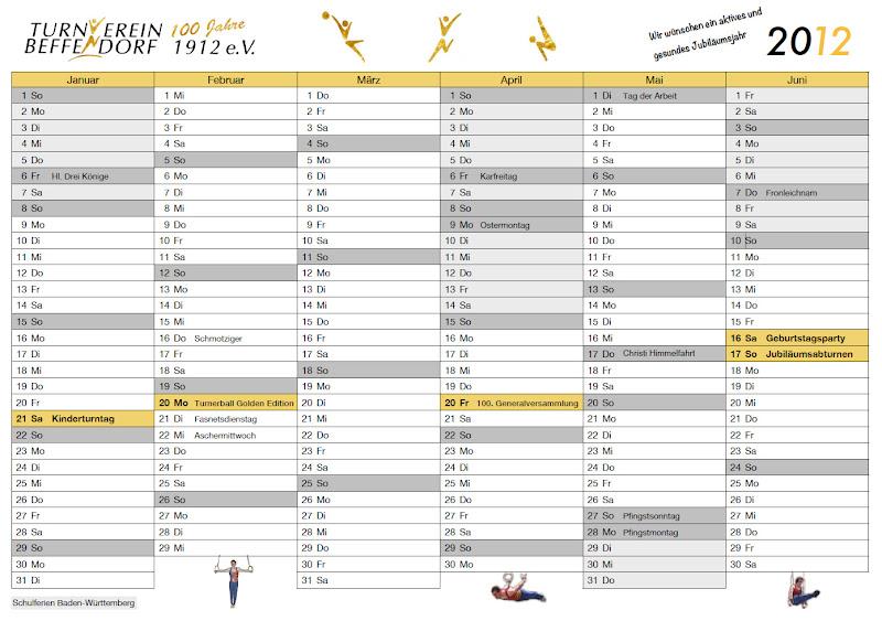 Jubiläumskalender 2012