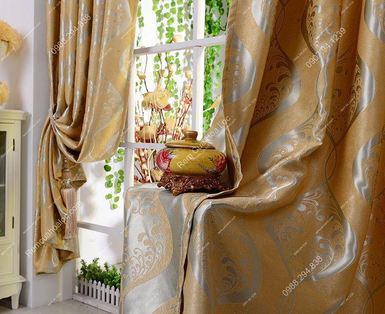 Rèm cửa đẹp vàng ánh 2