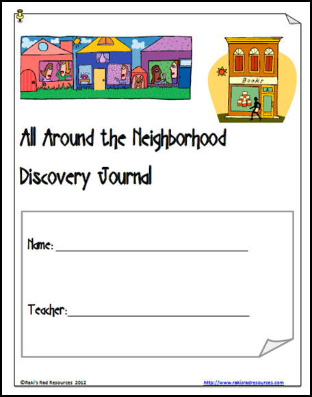 Exploring the neighborhood discovery journal - free download from Raki's Rad Resources.