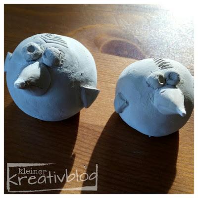 kleiner-kreativblog: Vögel aus Ton