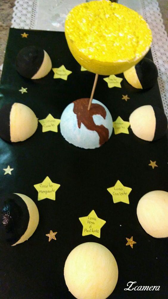 maquetas de las fases de la luna1