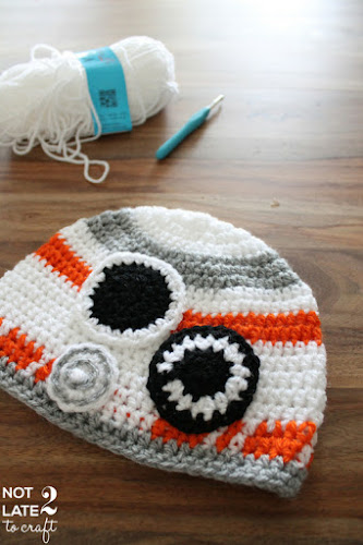 Not 2 late to craft: Barret BB8 de ganxet per en Bertrand / BB8 crochet hat for Bertrand