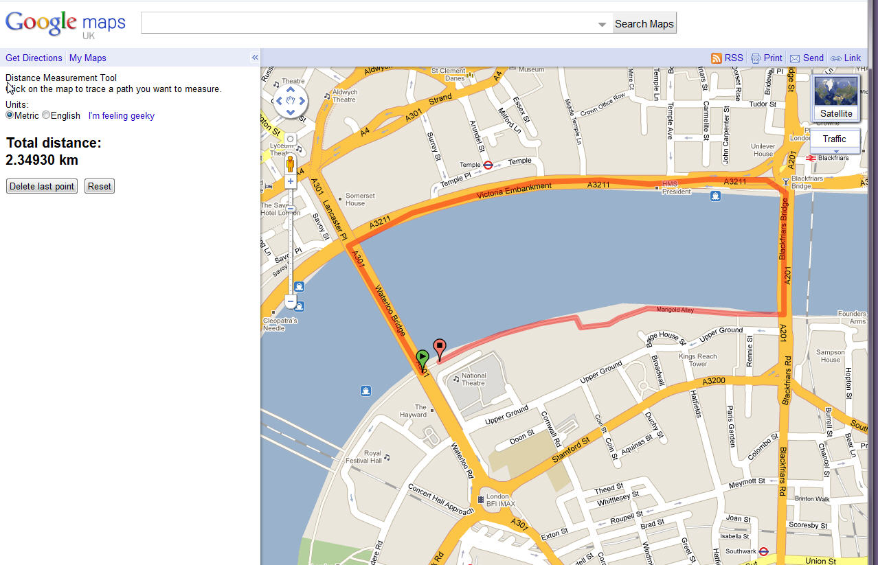 Google Maps Distance Measurement Tool Review FitTechnica - Map your distance