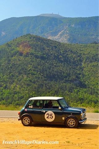 French Village Diaries Mini Cooper Road trip Provence France Mont Ventoux
