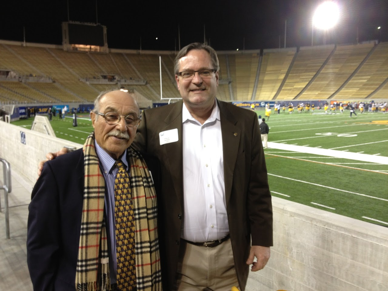 Rodney Friedman and Wayne Rowlands at Cal's Stadium
