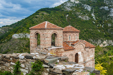 The Church of the Holy Mother of God Tzar Asen's Fortress near Asenovgrad Bulgaria Canon 400D