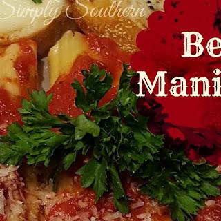 Beef Manicotti